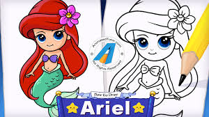 animatedtutor draw mermaid ariel mermaid