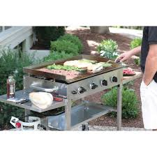 backyard grill gas grill the backyard flat top grill hammacher schlemmer