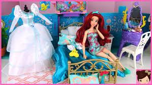 196 Best Barbie Dream House Barbie Little Mermaid Ariel Wedding Morning Routine Rapunzel