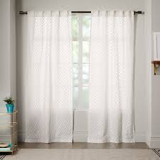 Curtains And Sheers Sheer Chevron Curtain White West Elm