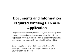 documents and information required for filing h1b visa