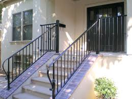 Home Handrails Front Doors Before Wooden Railing Columns Handrails For Front