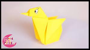 Pliage Serviette En Papier Papillon by Origami Le Poussin En Papier Youtube