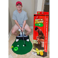 Funny Bathroom Gifts U0027n U0027 Stroke Bathroom Golf Game