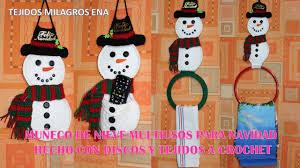 bufandas mis tejidos tejer en navidad manualidades navidenas bufanda muñeco de nieve snowman multiusos para navidad hecho con discos y