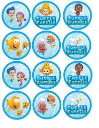 guppies cake toppers guppies cupcake toppers party circles digital files print