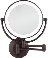 zadro 1x 10x cordless led lighted wall mount makeup mirror dark