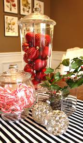 centerpieces with candy 15 christmas tree balls on table decoration 2017 uk