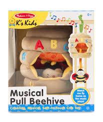 amazon com melissa u0026 doug k u0027s kids musical pull beehive