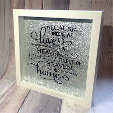 inspirational quote memorial box picture box frame heaven quote