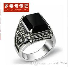man silver rings images 925 sterling thai silver ring man retro jewelry obsidian ring 1 8 jpg
