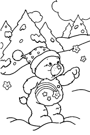 care bears winter coloring pages care bears winter