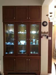 crockery cabinet in classical dining room 2bhk rentechdesigns