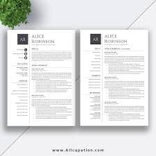2 page resume template modern resume template cv template cover letter references 1