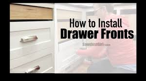 how to replace kitchen drawer fronts how to easily install cabinet drawer fronts