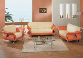 black and orange leather sofa set new lighting beautiful and