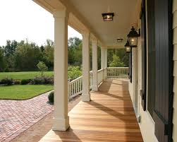 portland craftsman porch columns traditional with wood deck raised