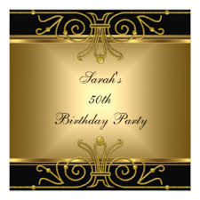 gold and black 50th birthday invitations u0026 announcements zazzle