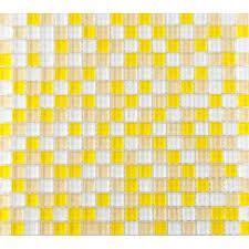 yellow glass tile backsplash ideas for kitchen walls glossy