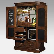 Portable Bar Cabinet Furniture Large Brown Lacquered Wooden Built In Wine Bar Cabinet