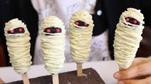 halloween mummy lollypop cakes ハロウィンのミイラ ロリポップケーキ