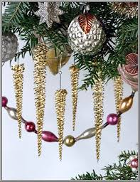 shop gold filigree tinsel icicle ornaments on blumchen