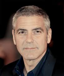 salt and pepper over 50 haircuts george clooney short straight formal hairstyle light brunette