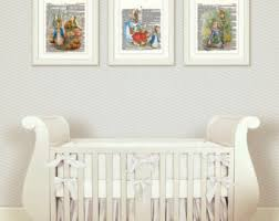 Beatrix Potter Nursery Decor Rabbit Nursery Decor Baby Nursery Print Or Canvas