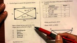 geometry quadrilaterals unit review youtube