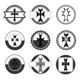 armenian crosses set of crosses armenian cross stock stock vector illustration