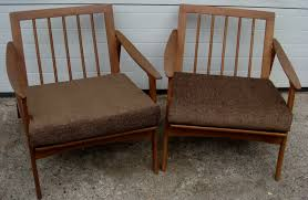 modern wood chair nicole wood interiors sold mid century pair of modern lounge