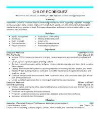 Resume Job Duties Executive Administrative Resume Job Description 2016