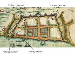 Charleston Map Rediscovering Charleston U0027s Colonial Fortifications A Weblog For