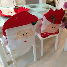 christmas chair back covers online shop 2pcs christmas santa clause chair cover set mr mrs