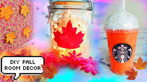 Home Made Fall Decorations Diy Fall Room Decorations Super Cute And Easy Youtube