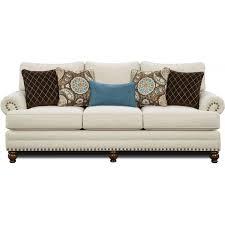 Corinthian Sofa Fusion Furniture The 2820 Kp Anna White Linen Sofa Local