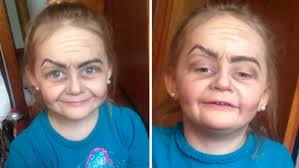Cowgirl Halloween Makeup Toddler Turned Into Little Old Lady By Makeup Wielding Baby Sitter