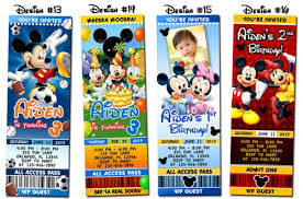 custom birthday invitations personalized mickey mouse birthday invitations reduxsquad