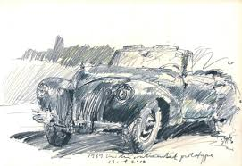 scott a stultz drawings 1939 lincoln continental zephyr prototype