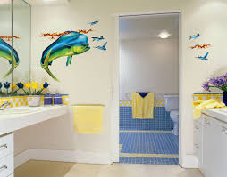 eclectic big fish decal for bathroom wall decoration paired with