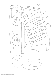 coloring page for little kids a dump truck