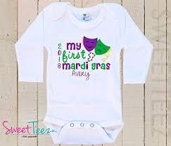 mardi gras baby clothes my mardi gras baby bodysuit baby girl boy