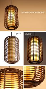 rattan hanging lamp trendy pendant lamp steel rattan laika with