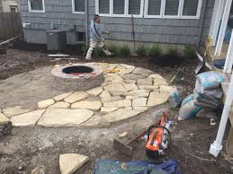 flagstone patio with manufactured block fireplace 5 u2013 hometown