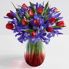 Vase With Irises Iris Flower Arrangements Iris Flowers Online Proflowers