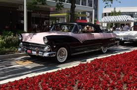 pink and black cars 1955 ford fairlane sunliner in pearl mist pink u0026 black u0026 start up