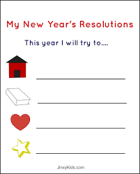 free printable new year u0027s resolutions activity sheet for kids