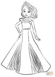 disney descendants auradon coronation audrey coloring page free
