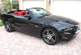 2010 Black Ford Mustang 2010 Ford Mustang Gt 4 6 Auto Low Miles Black Red Leather Interior