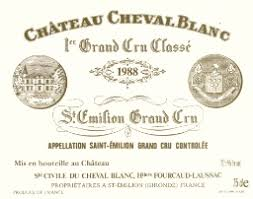 learn about chateau cheval blanc 1988 château cheval blanc bordeaux libournais st